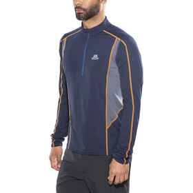 Mountain Equipment M's Ignis LS Zip Tee Cosmos/Ombre Blue